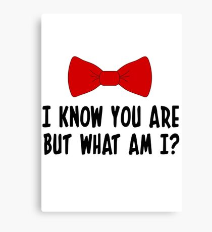 Pee Wee Herman - I Know You Are But What Am I? Canvas Print