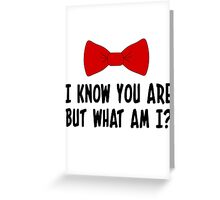 Pee Wee Herman - I Know You Are But What Am I? Greeting Card