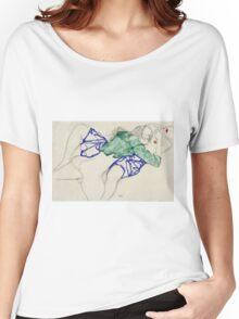 Egon Schiele - Two Friends, Reclining (Tenderness). Schiele - lovers. Women's Relaxed Fit T-Shirt