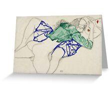 Egon Schiele - Two Friends, Reclining (Tenderness). Schiele - lovers. Greeting Card