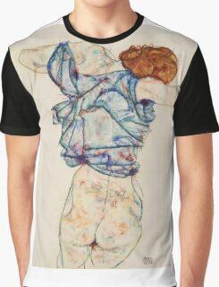 Egon Schiele - Woman Undressing. Schiele - woman portrait. Graphic T-Shirt
