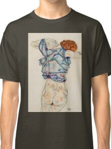Egon Schiele - Woman Undressing. Schiele - woman portrait. Classic T-Shirt