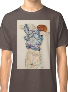 Egon Schiele - Woman Undressing. Schiele - woman portrait. Classic T-Shirt