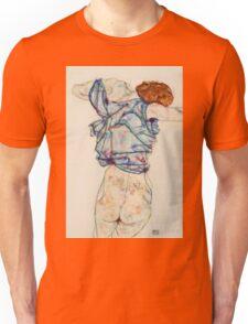 Egon Schiele - Woman Undressing. Schiele - woman portrait. Unisex T-Shirt