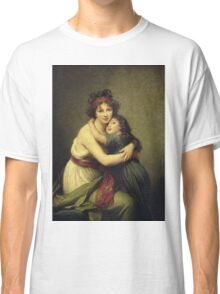 Elisabeth Louise Lebrun - Madame Vigee-Lebrun And Her Daughter.  Lebrun - mother with kid. Classic T-Shirt