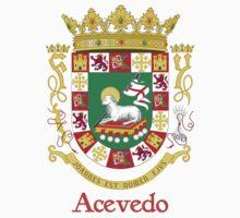Acevedo Shield of Puerto Rico Kids Tee