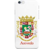 Acevedo Shield of Puerto Rico iPhone Case/Skin