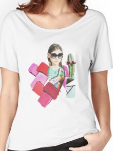 collage design  Women's Relaxed Fit T-Shirt