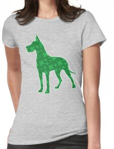 Shamrock Great Dane, St. Patrick's Day Womens Fitted T-Shirt