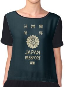 Japanese Passport Chiffon Top