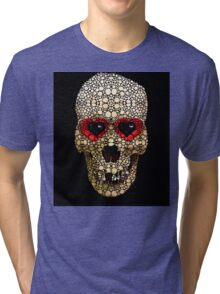 Skull Art - Day Of The Dead 3 Stone Rock'd Tri-blend T-Shirt