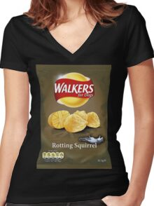 Walkers for Dogs - Rotting Squirrel flavour Women's Fitted V-Neck T-Shirt