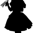 Alice In Wonderland - Alice Silhouette with Drink Me bottle by Sally McLean