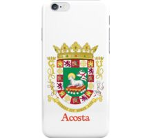 Acosta Shield of Puerto Rico iPhone Case/Skin