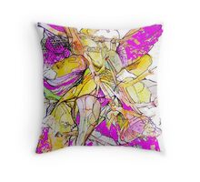 Purple Gowned Angel Playing a Trumpet  Throw Pillow