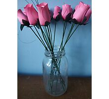 Amish Wood Roses Photographic Print