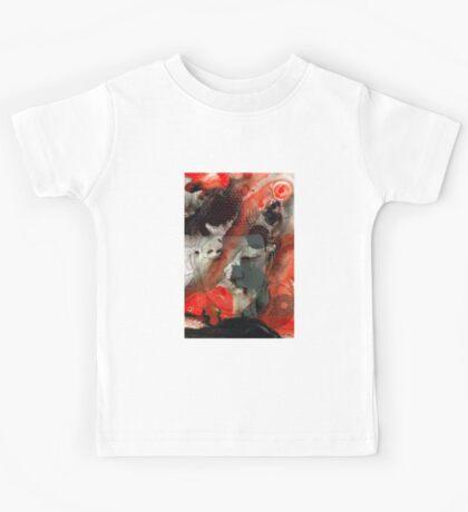 Universal Qi - Zen Black And Red Art Kids Tee