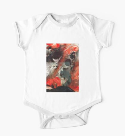 Universal Qi - Zen Black And Red Art One Piece - Short Sleeve