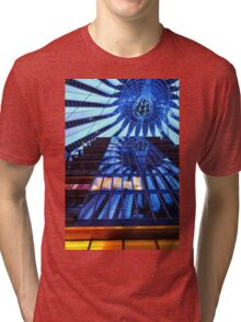 Reflections Sony Center at Night - Berlin, Germany Tri-blend T-Shirt