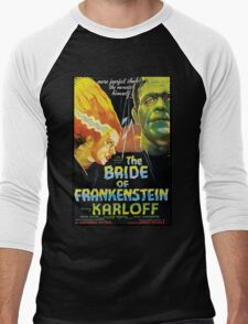 The Bride Of Frankenstein Men's Baseball ¾ T-Shirt