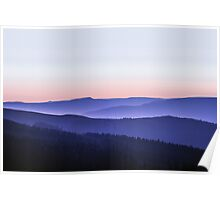 Stacked Sunset - Peak District Poster