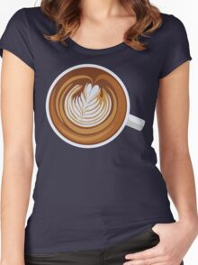 Cup-a-Cappuccino Women's Fitted Scoop T-Shirt