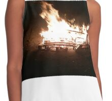 Bonfire at Triangle Beach Contrast Tank