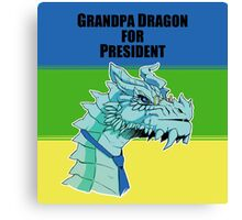 Grandpa Dragon for President Canvas Print