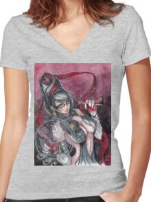 Witch Time Women's Fitted V-Neck T-Shirt