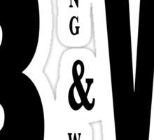 Bering & Wells minimalist text design Sticker