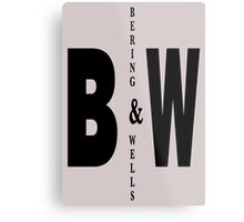 Bering & Wells minimalist text design Metal Print