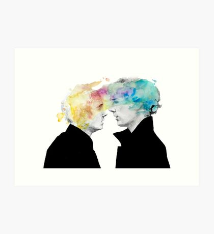 Sherlock and John Art Print