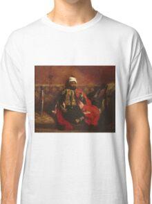 Eugene Delacroix  - A Turk Smoking Sitting On A Sofa.  Delacroix  - man portrait. Classic T-Shirt