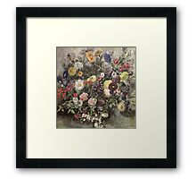 Eugene Delacroix  - Bouquet Of Flower.  Delacroix  - still life with flowers. Framed Print