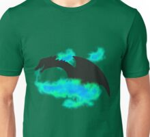 Dragon Silhouette (green/blue version) Unisex T-Shirt