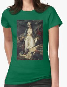 Eugene Delacroix  - Greece Expiring On The Ruins Of Missolonghi.  Delacroix  - woman portrait. Womens Fitted T-Shirt