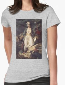 Eugene Delacroix  - Greece Expiring On The Ruins Of Missolonghi.  Delacroix  - woman portrait. Womens Fitted T-Shirt