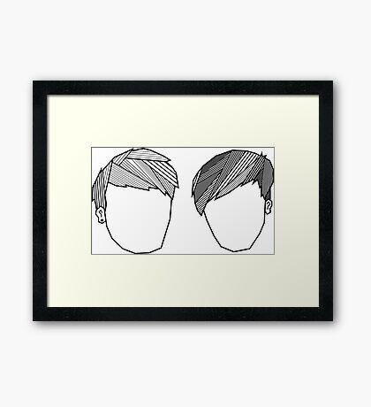 Dan and Phil Geometric Fringes Framed Print