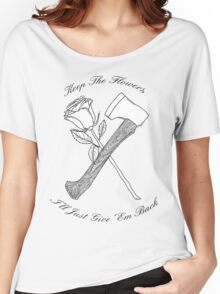 Foxy Shazam Axe And Flowers Women's Relaxed Fit T-Shirt