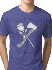 Foxy Shazam Axe And Flowers Tri-blend T-Shirt