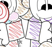2 Sweethearts & 2 Lollipops  Sticker