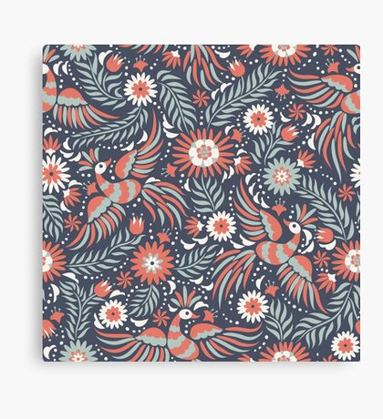 Mexican floral pattern Canvas Print