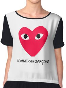 CDG Red Chiffon Top