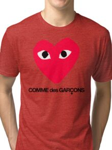 CDG Red Tri-blend T-Shirt