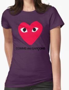 CDG Red Womens Fitted T-Shirt
