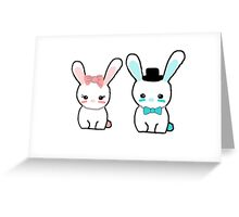 Cute Kawaii bunnies Greeting Card