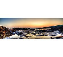 Rockpools at sunset Photographic Print