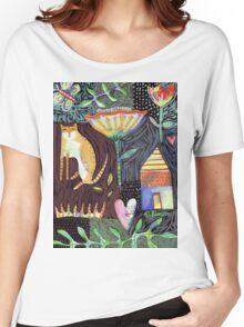 Cat House Heart Women's Relaxed Fit T-Shirt