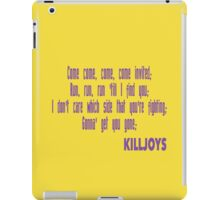 Killjoys theme in purple writing iPad Case/Skin