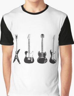 Four Electric Guitars Graphic T-Shirt